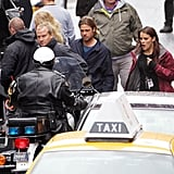 Brad Pitt in Glasgow, which was made over to look like Philadelphia, for World War Z.