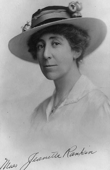 First Woman Elected to Congress: Jeannette Rankin