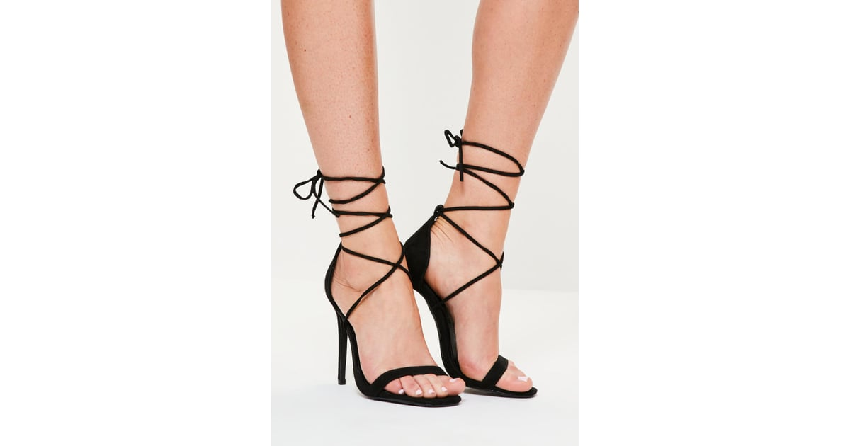 6664df5fa0af Alternative  Missguided Lace Up Barely There Heeled Sandals