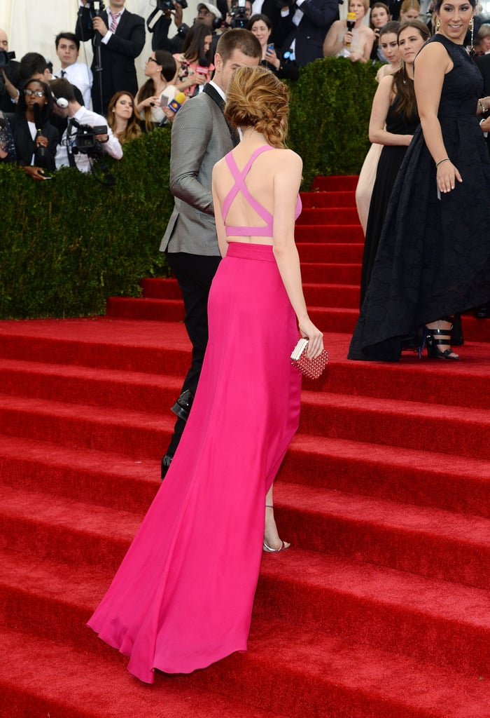 Andrew Garfield offered Emma Stone his hand.