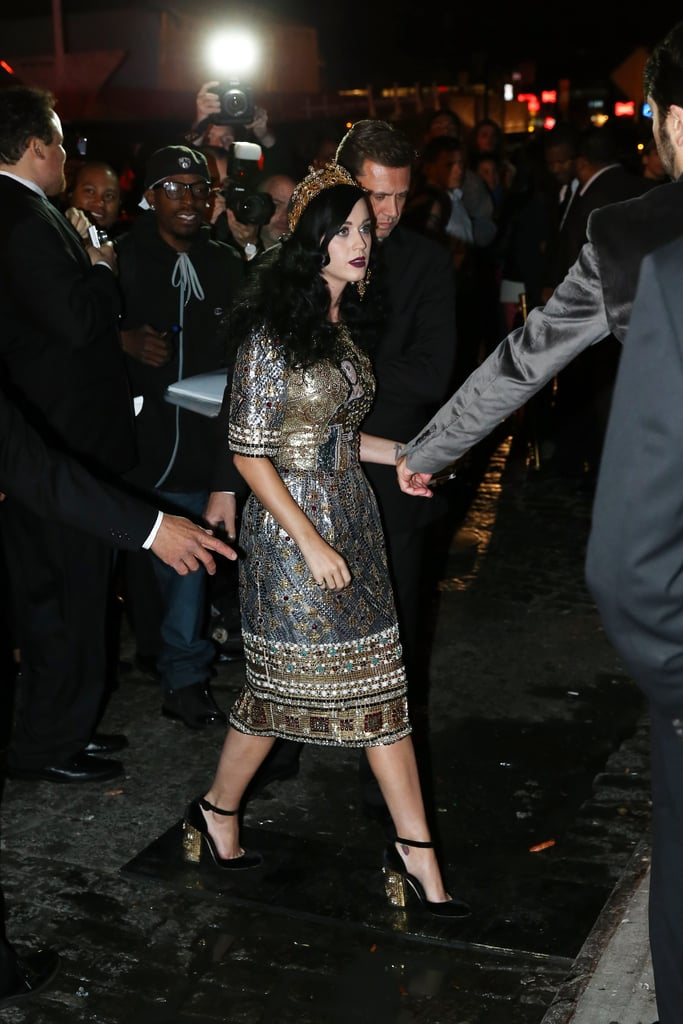 Katy Perry arrived at the Met Gala 2013 afterparty.
