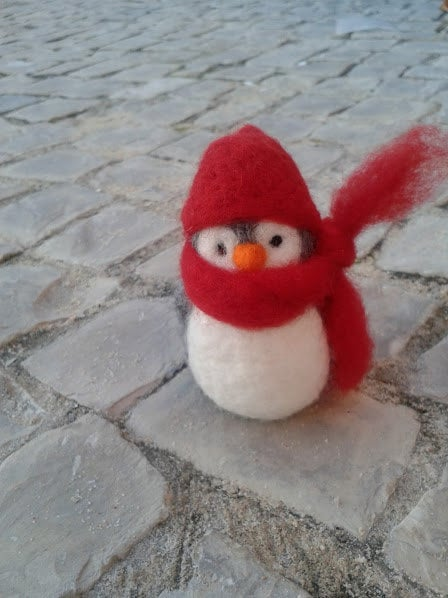 Miritilio Needle Felted Penguin ($22)