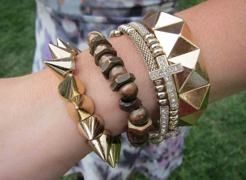 It's all about mixing and matching at this arm party, courtesy of ASOS.