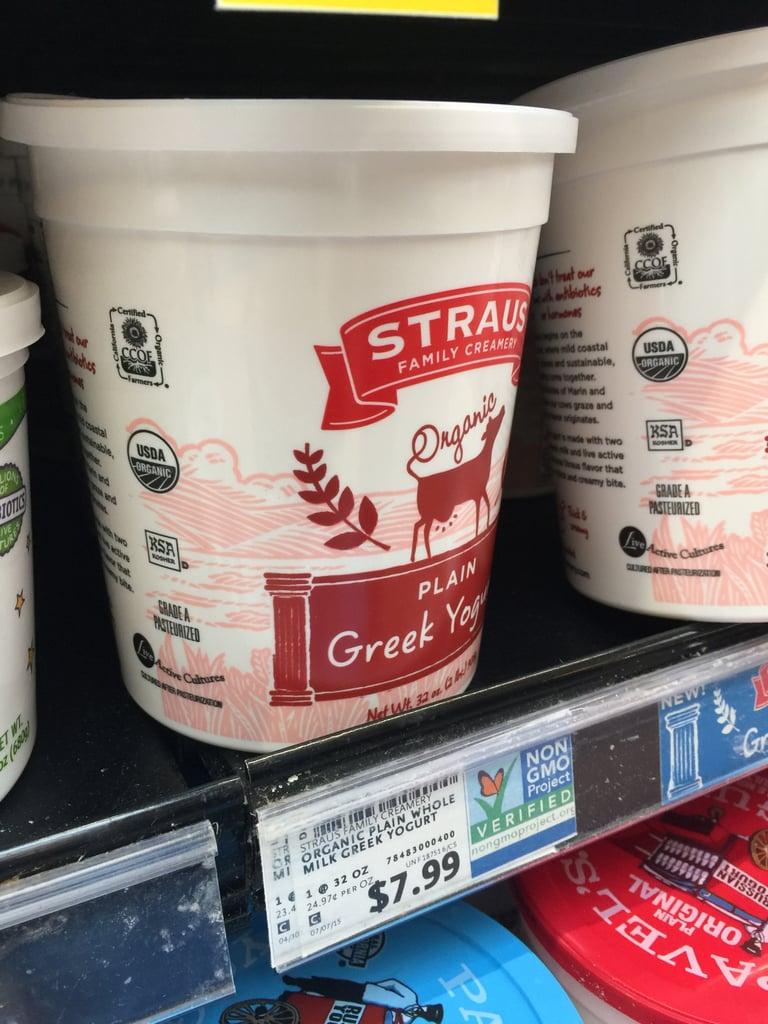 Best Whole Foods Product: Straus Organic Plain Greek Yogurt ($8)