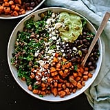 Southwestern Kale Salad With Sweet Potato, Quinoa, and Avocado Sauce