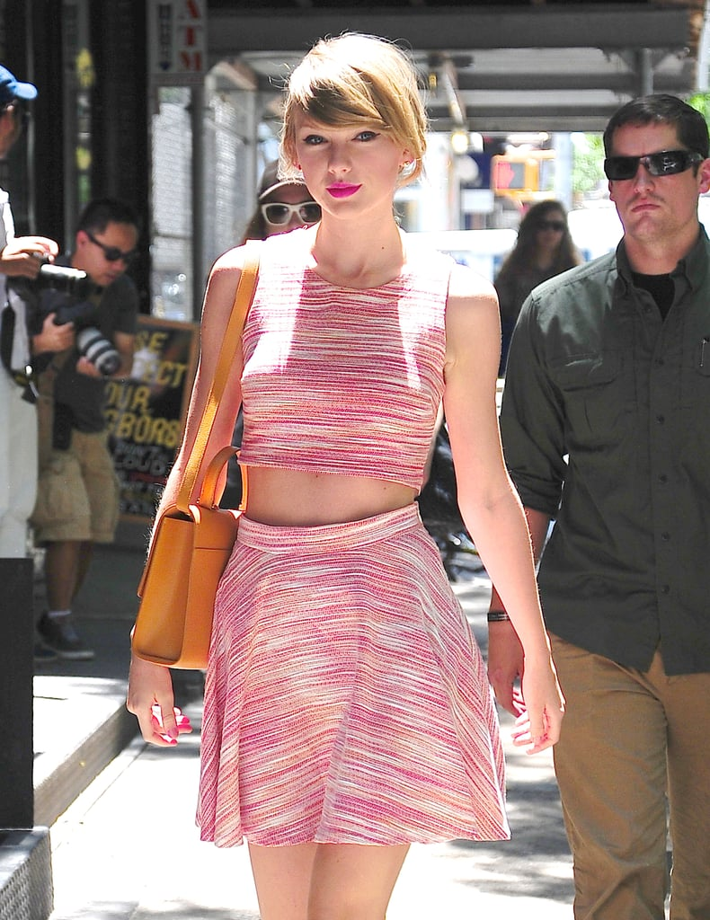 Taylor Swift stepped out in a crop top on Wednesday in NYC.