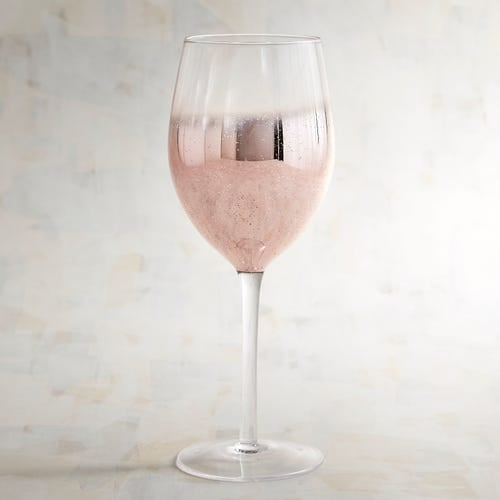Rose Gold Wine Glass
