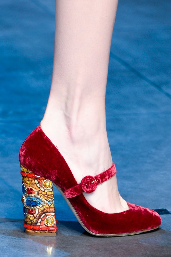 Dolce & Gabbana Fall 2013 | Best Bags and Shoes From Milan ... Дольче Габбана Обувь 2013