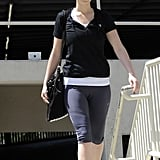 Jennifer Lawrence left an LA gym.