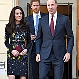 Prince Harry, Kate Middleton, Prince William in London 2017