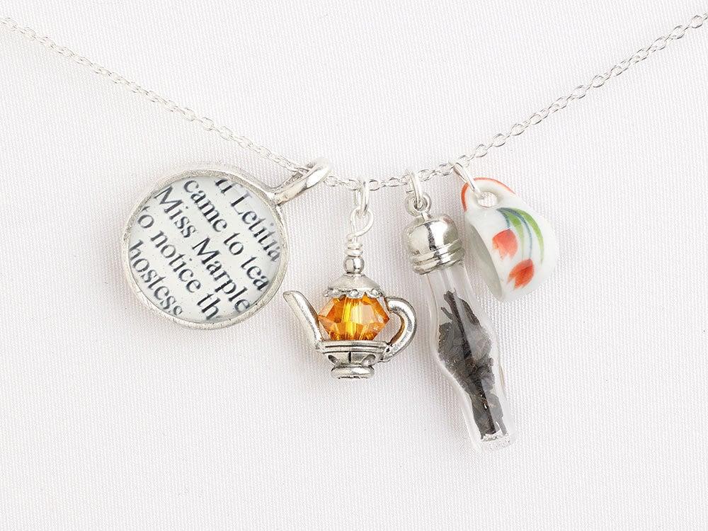 Miss Marple Tea Necklace