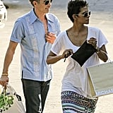 Halle Berry and Olivier Martinez went shopping in LA.