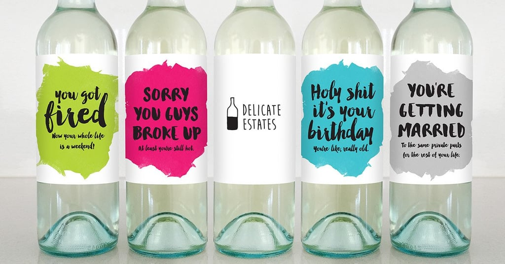 Delicate Estates Wine Labels: Because Tuesday