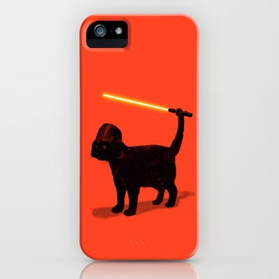 The Force is strong with this colorful Cat Vader case ($35).