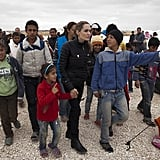 Angelina Jolie traveled to Jordan with the UNHCR.