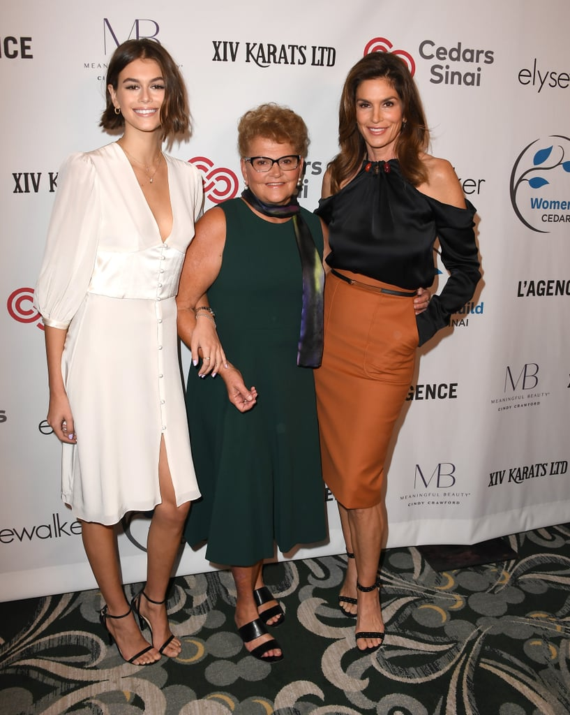 Cindy Crawford and Kaia Gerber Wearing Silky Evening Looks in 2019