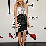 Diane Kruger has never met a printed dress she doesn't like — she wore a polka-dot Diane von Furstenberg frock to an event recently, pairing it with an equally chic, graphic black and white clutch and black strappy heels.