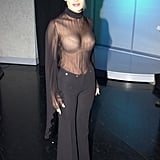 Salma Hayek left little to the imagination at the 2000 My VH1 Awards in Los Angeles.