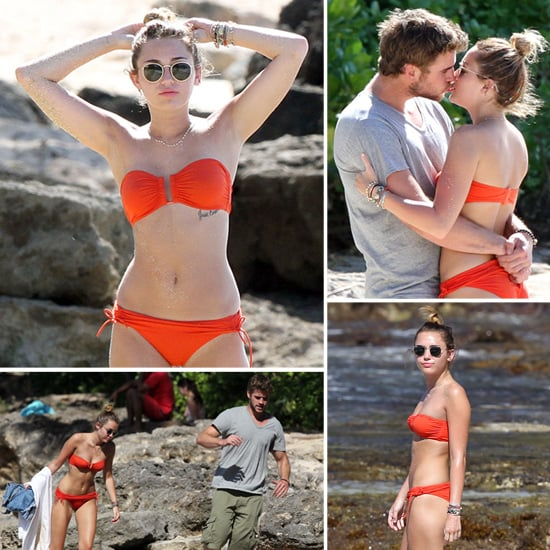 Miley Cyrus in Bikini in Hawaii With Liam Hemsworth Pictures
