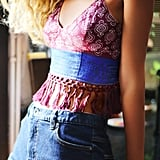 Free People's One Eastern Fringed Bralette ($58) is perfect for pairing with a denim skirt and sneakers.