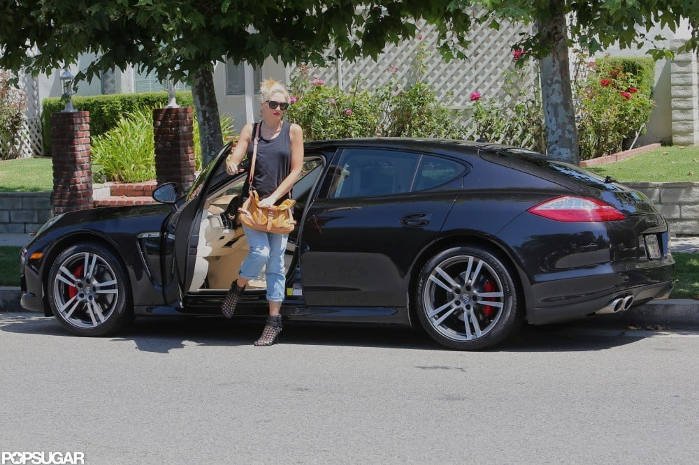 Gwen Stefani dropped by a house in Studio City.