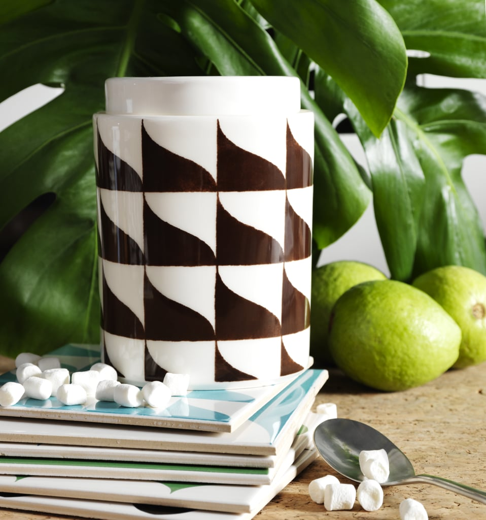 This tiled jar is ideal for stylish kitchen storage ($8)!