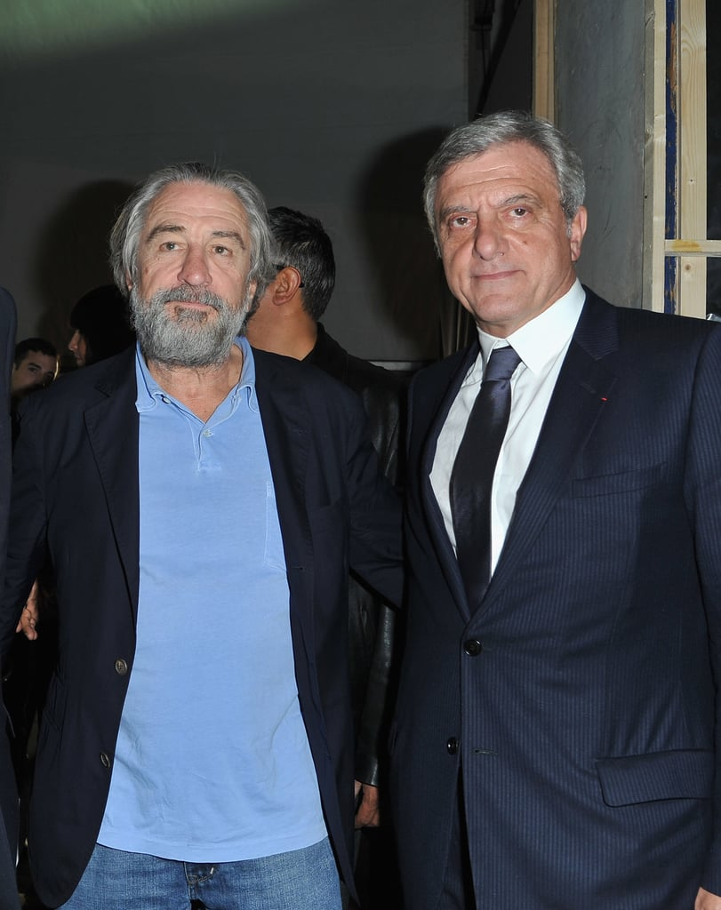 Robert De Niro and Sidney Toledano attended the Christian Dior show.
