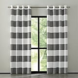 Crate & Barrel Alston Ivory/Grey Curtains ($90)