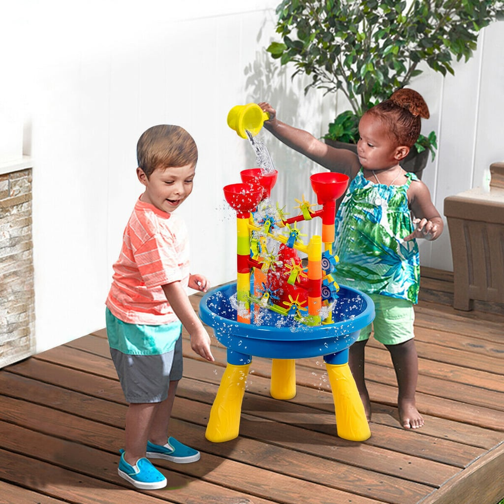 Gymax 2 in 1 Sand and Water Table Activity Play Center