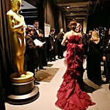 Jennifer Garner backstage at the 2013 Oscars.