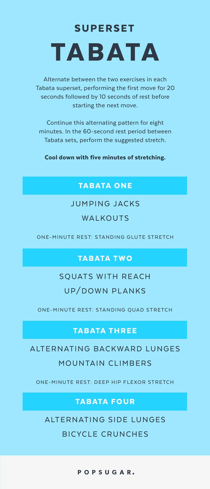 Superset Tabata Time | Printable Bodyweight Workouts ...