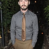 Shia LaBeouf shed his jacket for the afterparty of the screening of Lawless in NYC.