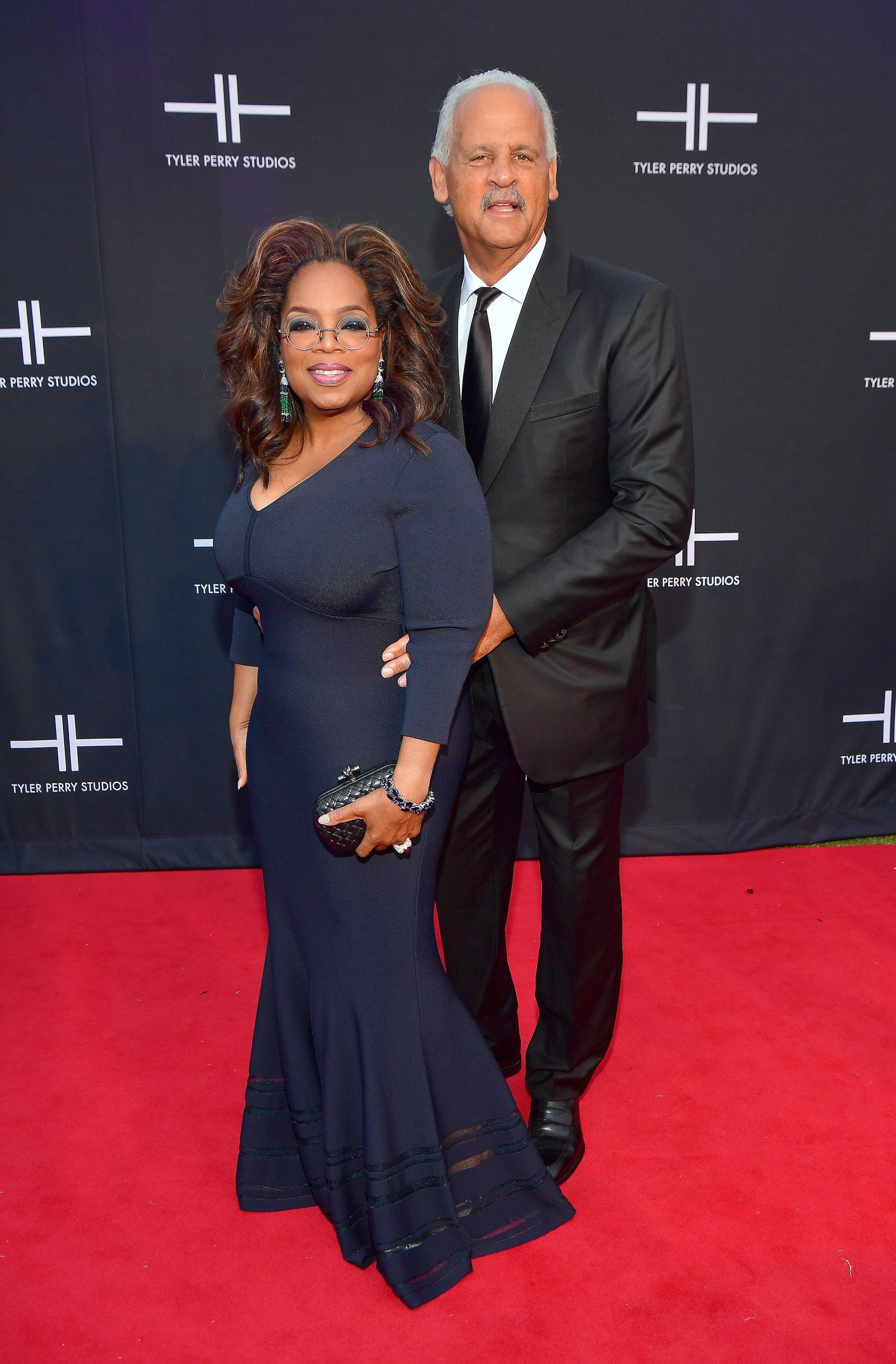 ATLANTA, GA - OCTOBER 05: Oprah Winfrey and Stedman Graham attend Tyler Perry Studios Grand Opening Gala - Arrivals at Tyler Perry Studios on October 5, 2019 in Atlanta, Georgia.(Photo by Prince Williams/Wireimage)