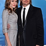 Angelina Jolie and Brad Pitt struck a pose on the red carpet.