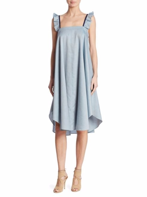 Hatch Nelli Chambray Dress | Best Maternity Dresses For Wedding ...