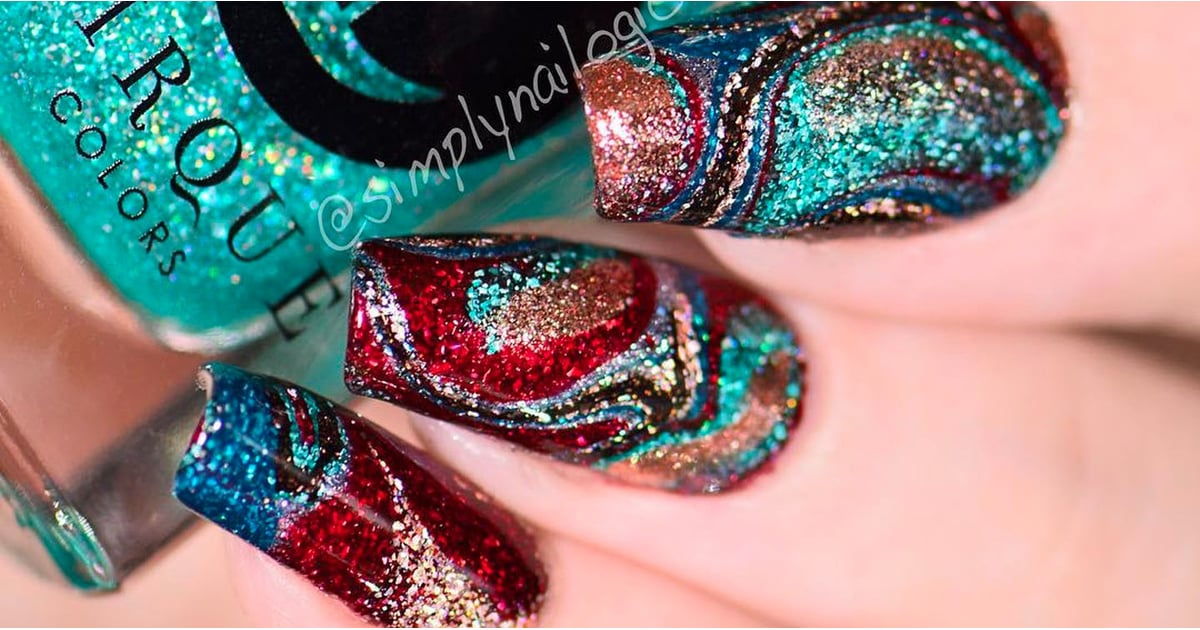 Water Marble Nails Without Water | POPSUGAR Beauty UK