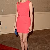 Taylor Schilling chose a bright, sexy dress for the event.