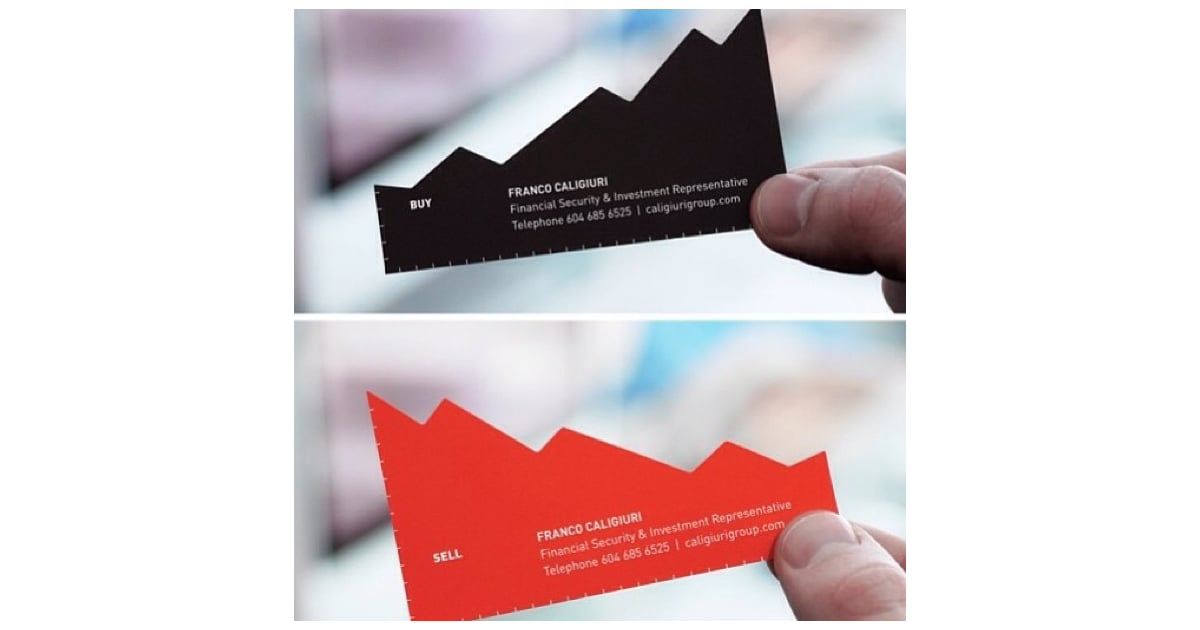 Playing on your profession — like this stockbroker business card ...