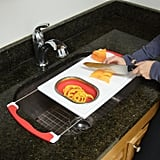 Extendable Cutting Board With Collapsible Colander