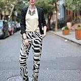 Coco Rocha prepared to preview Dannijo's designs at the label's New York presentation.