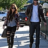 Miley Cyrus and Liam Hemsworth were out running errands together in LA during January 2010.