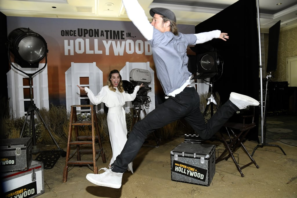 Brad Pitt Sure Was in a Photobombing Mood at This Fun Once Upon a Time in Hollywood Shoot