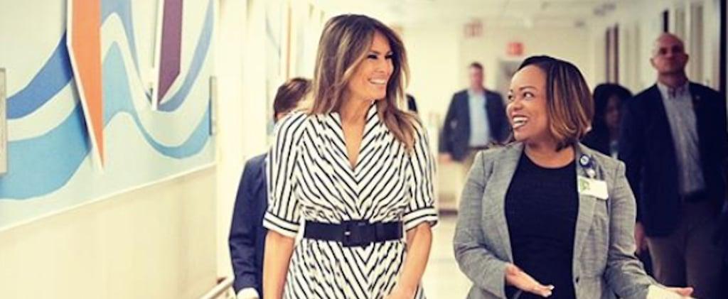 Melania Trump's Adam Lippes Striped Dress