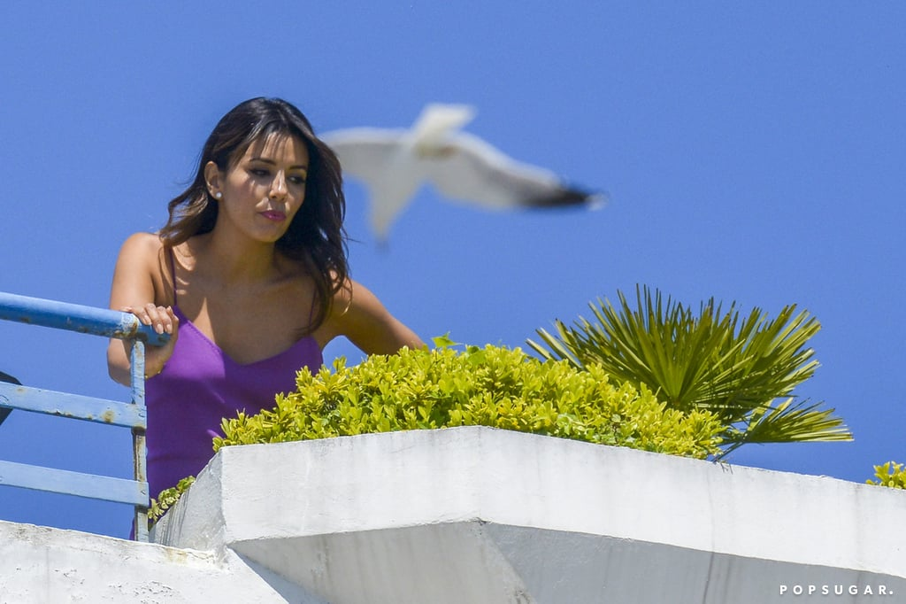 Eva Longoria scoped out the view in Cannes, France, on Sunday.