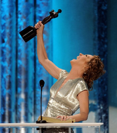Melissa Leo won an award for her role in The Fighter in 2011, and was overjoyed while making her acceptance speech.