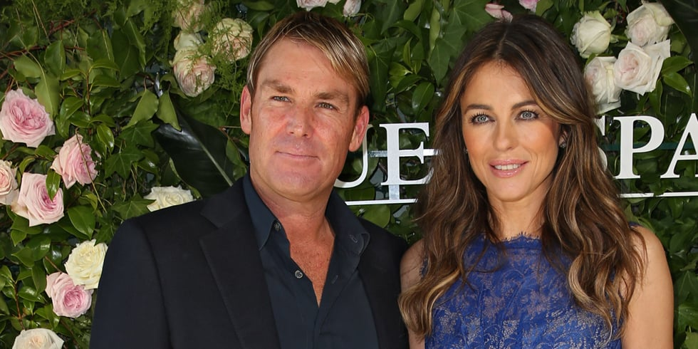 Pics: Liz hurley & Shane Warne Together, No Engagement Ring