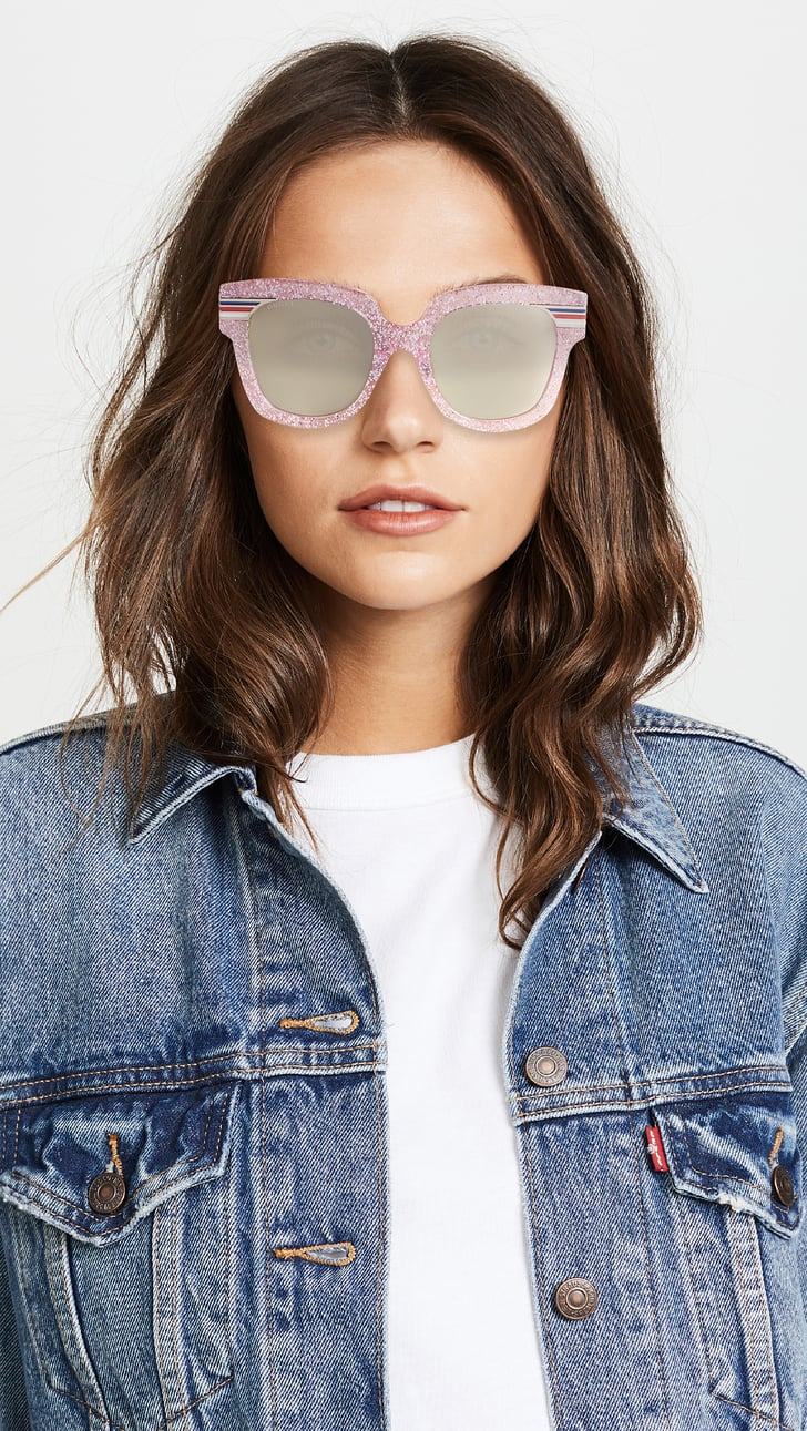 Gucci Vintage Web Oversized Sunglasses | Blake Lively Pink ...