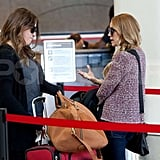 Lauren Conrad traveled in a knit sweater form Rag & Bone at the Los Angeles airport.
