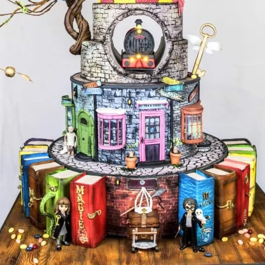 Elaborate Harry Potter Birthday Cake