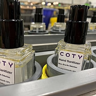 Coty Inc. Is Producing Hand Sanitizer in Its Factories For Employees and Medical Staff